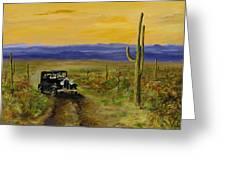 Touring Arizona Greeting Card by Jack Skinner