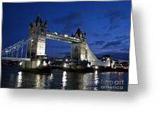 Tower Bridge Greeting Card by Amanda Barcon