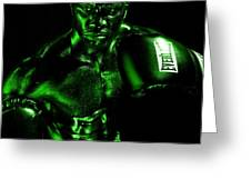Toxic Boxer Greeting Card by Val Black Russian Tourchin