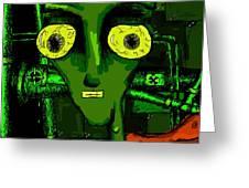 Toxic Man Greeting Card by Jera Sky