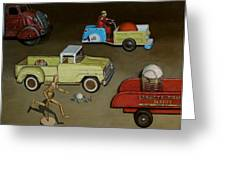 Toy Parade Greeting Card by Doug Strickland