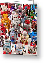 Toy Robots Greeting Card by Garry Gay