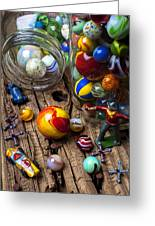 Toys And Marbles Greeting Card by Garry Gay