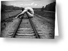 Tracks Greeting Card by Chance Manart