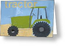 Tractor Greeting Card by Laurie Breen