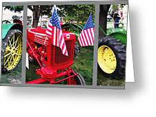 Tractor Triptych - Utah State Fair Greeting Card by Steve Ohlsen