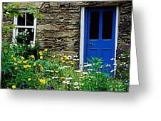 Traditional Cottage, Co Cork Greeting Card by The Irish Image Collection