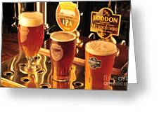 Traditional English Beers Greeting Card by Andy Smy