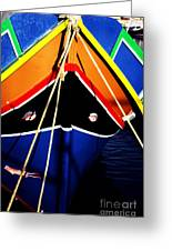 Traditional Maltese Fishing Boat Greeting Card by Thomas R Fletcher