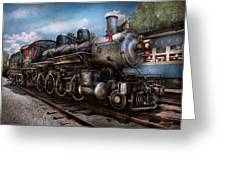 Train - Steam - 385 Fully Restored Greeting Card by Mike Savad
