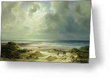 Tranquil Sea Greeting Card by Carl Morgenstern