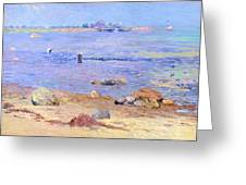 Treading Clams At Wickford Greeting Card by William James Glackens