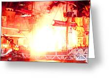 Treasure Island Explosion Greeting Card by Andy Smy