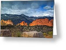 Treasures Of Colorado Springs Greeting Card by Tim Reaves