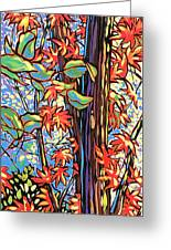 Tree Long Greeting Card by Nadi Spencer