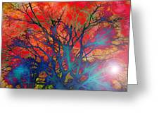 Tree Of Ghosts Greeting Card by Linnea Tober