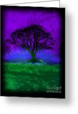 Tree Of Life - Purple Sky Greeting Card by Robert R Splashy Art