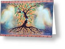 Tree Of Life Greeting Card by Kathy Braud