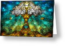 Tree Of Life Greeting Card by Mandie Manzano