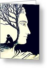 Tree Of Self Insight Greeting Card by Paulo Zerbato