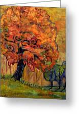 Tree Of Wisdom Greeting Card by Blenda Studio