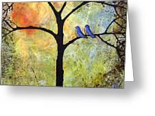 Tree Painting Art - Sunshine Greeting Card by Blenda Studio