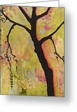 Tree Print Triptych Section 1 Greeting Card by Blenda Studio