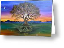 Tree Yantra Greeting Card by Sundara Fawn