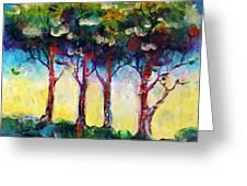 Trees 1 Greeting Card by Faith Frykman