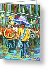 Treme Brass Band Greeting Card by Dianne Parks