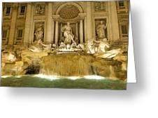 Trevi Fountain. Rome Greeting Card by BERNARD JAUBERT