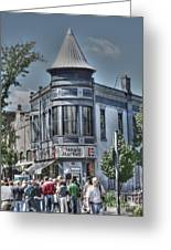 Triangle Market Greeting Card by David Bearden