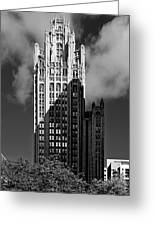 Tribune Tower 435 North Michigan Avenue Chicago Greeting Card by Christine Till