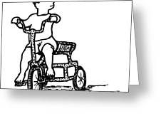 Tricycle Greeting Card by Karl Addison