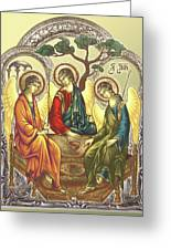 Trinity After Rubliov Greeting Card by Iosif Ioan Chezan