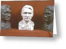 Trio Portrait Of Rudolf Steiner Greeting Card by David Dozier