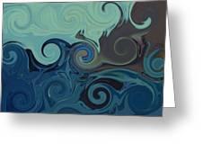 Trippy Greeting Card by Melanie Plummer
