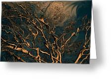 Trippy Tree Greeting Card by Linda Sannuti