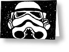 Trooper On Starry Sky Greeting Card by Jera Sky
