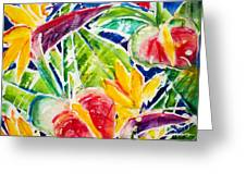 Tropics - Floral Greeting Card by Julie Kerns Schaper - Printscapes