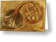 Trumpet Greeting Card by Rashmi Rao