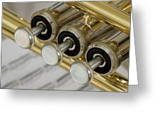 Trumpet Valves Greeting Card by Frank Tschakert