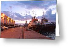 Tug Boats Greeting Card by Gaspar Avila