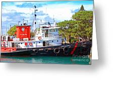 Tug on it Greeting Card by Debbi Granruth