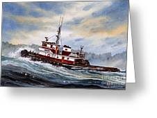 Tugboat Earnest Greeting Card by James Williamson