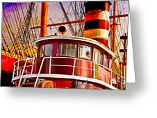 Tugboat Helen McAllister Greeting Card by Chris Lord