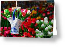 Tulips N' Amsterdam Greeting Card by Josephine Johnston