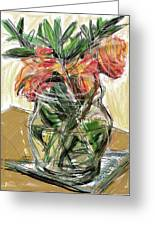 Tulips Greeting Card by Russell Pierce