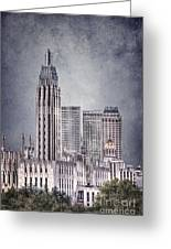 Tulsa Art Deco II Greeting Card by Tamyra Ayles