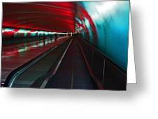 Tunnel Of Light Greeting Card by Elizabeth Hoskinson